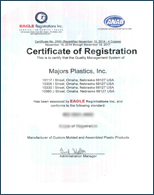 Majors Plastics Custom Injection Molders ISO Registered